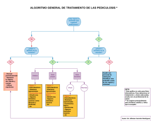 Algoritmo para el diagnóstico de pediculosis