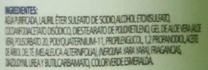 Ingredientes del Shampoo Antipiox