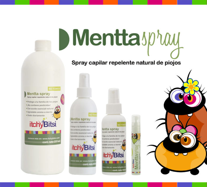 Repelente para piojos itchyBitsi Mentta Spray